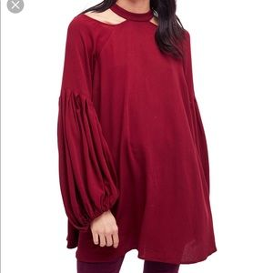NWT Free People Drift Away Cold Shoulder Blouse